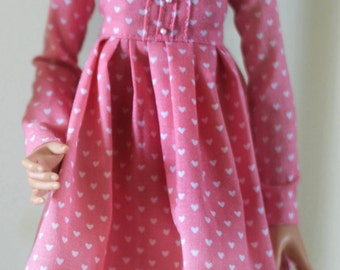 Pink dress with hearts for Minifee