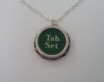 Antique typewriter key necklace - 'tab set'