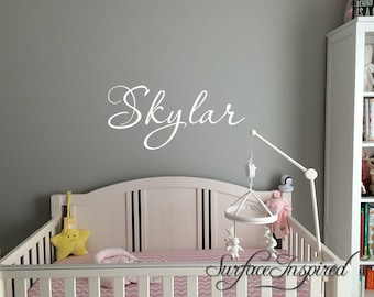 Personalized Childrens Wall Decal - Girls Name Wall Decal - Nursery Wall Decal - Personalized Name Decal - Vinyl Wall Decal