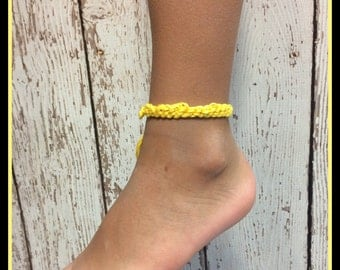 Crochet Baby Anklet - Single Solids