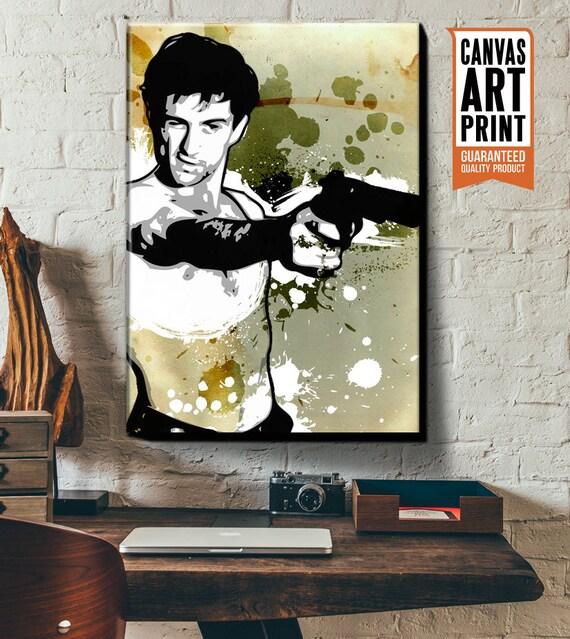 Robert DeNiro fan art illustration Pop Art Celebrity Portrait, Canvas Art Print, Geekery art, Movie Decor, Canvas Art, Dorm Decor, Man Cave