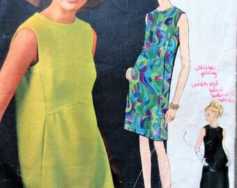 Vintage Vogue 1823 Sewing Pattern, Simonetta Design, 1960s Dress Pattern, A Line Dress Pattern, Bust 32, 60s Sewing Pattern, Vogue Couturier