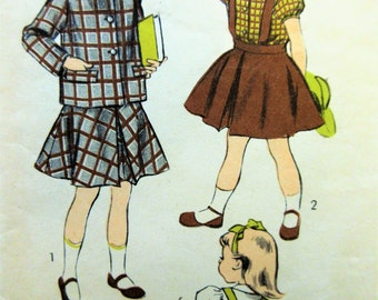 Vintage Advance 5913 Sewing Pattern, Jumper Pattern, Little Girl's Dress, 1950s Dress Pattern, Chest 26, 1950s Sewing Pattern Blouse Pattern