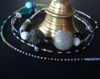 temple bell. rare glassbeads, indoors, outdoors, colourful gift, clear ringing sound, spiritual, meditation, windchime, mobile, religion