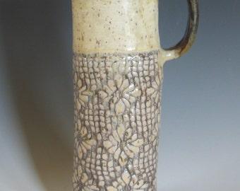 Textured Slab built Vase