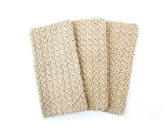 CROCHET WASHCLOTH set of 3 crochet washcloths handmade wash cloth, cotton washcloths crochet wash cloth set gift set Christmas gift SCF