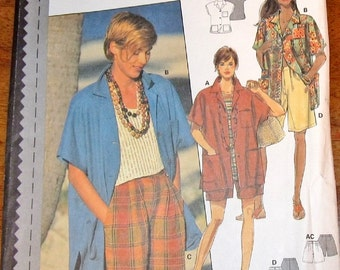 Sewing Pattern The New Burda 3744 Camp Shirt, Bermuda Shorts Women's Misses Size 8 10 12 14 16 18 Bust 31 32 34 36 38 40 Uncut Factory Folds
