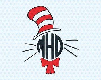 Cat In The Hat Svg, Dr. Seuss Svg, Svg Files, Cricut Files, Silhouette Files