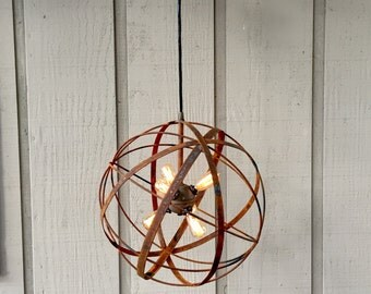 Upcycled Chandelier with Edison Bulbs