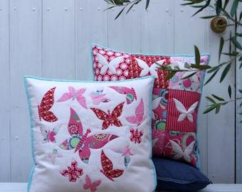 Sweet mariposa applique cushion PDf pattern