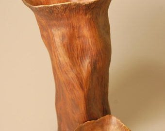 Lidded Vessel Urn Carved Nurtured KH0809 Cremation Ashes Child Baby Infant Youth Handcrafted Artistic