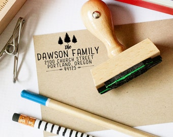 Return Address Stamp,  Custom Tree Stamp, Wedding Invitation Stamp, Forest Wedding Stamp, Personalized Address Stamp, Camp Wedding Stamp