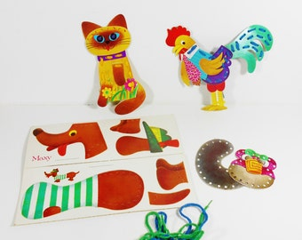 Vintage 1969 Sewing Card Toys