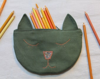 The Cat's Out of the Bag Pencil Pouch