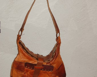70's Leather Patchwork Handbag