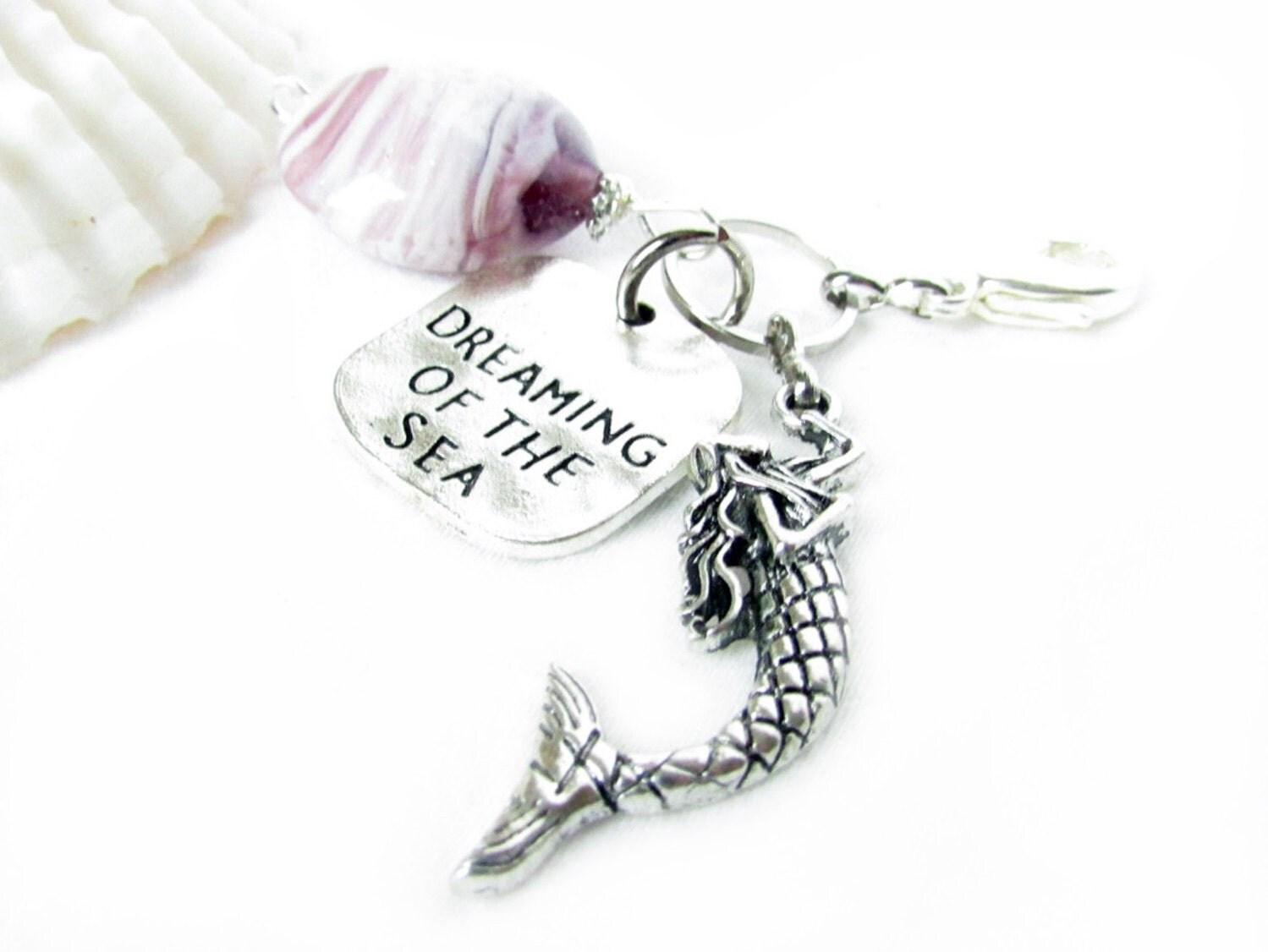 zipper pull zipper charm handbag charm purse charm mermaid