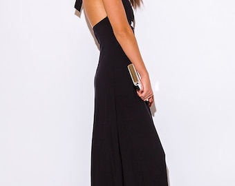 Black Empire Waist Maxi Dress