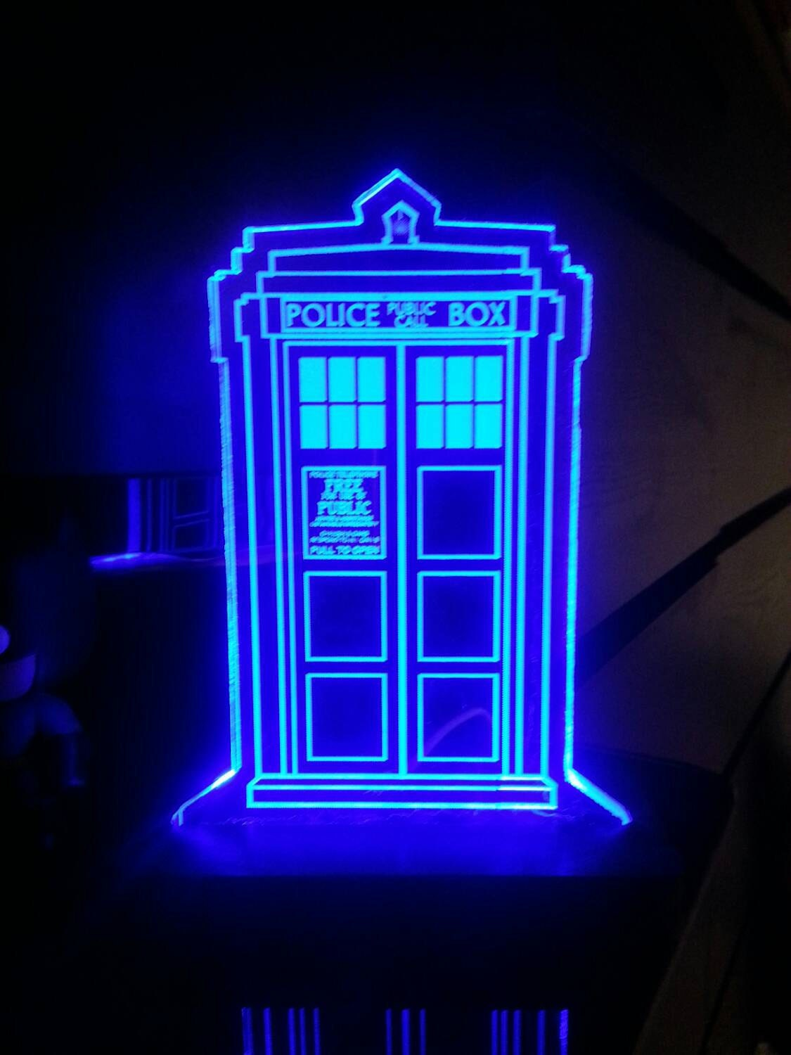 Dr Who Tardis Acrylic Led Light Sign Led Display Sign Led