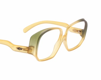 Christian Dior rare & unusual bicolor shades vintage oversized eyeglasses frames, 2 colors