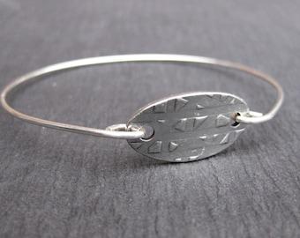 Hammered Recycled Silver Bangle Bracelet, Sterling Silver Bracelets, Boho Chic Bangles, Jewelry, Charm Bracelets, Hammered Sterling Silver