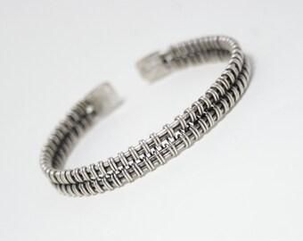 mens bracelet silver cuff bracelet cuff bracelet men wire wrapped bracelet mens  jewelry wire jewelry handmade mens gift