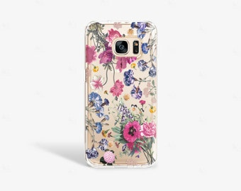Samsung Galaxy S7 Edge Case Clear Floral Samsung Galaxy S7 Case Floral iPhone SE Case Tough Samsung Galaxy Note 4 Case Clear Floral Samsung