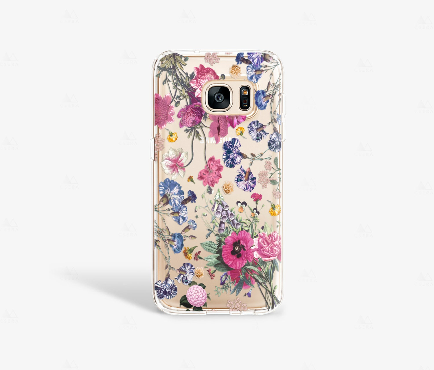 Samsung Galaxy S7 Edge Case Clear Floral Samsung Galaxy S7