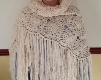 Handmade Crochet Pineapple Shawl