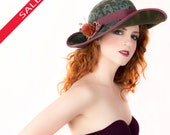 HOLIDAY SALE! Elegant Wide Brim Hat with Lace Pattern