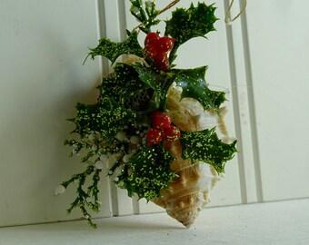 Seashell Ornaments Christmas in July #CIJ2017 Conch Christmas