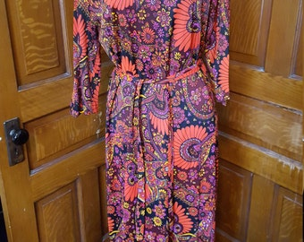 Disco Diva Vintage Paisley Maxi Dress