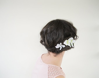 Hydrangea Flower Bobby Pins | Wedding Hair Pins Set of 3 | Bridal Hair Piece
