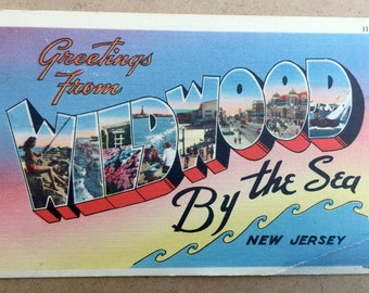 Vintage Postcard: Greetings From Wildwood By The Sea, New Jersey