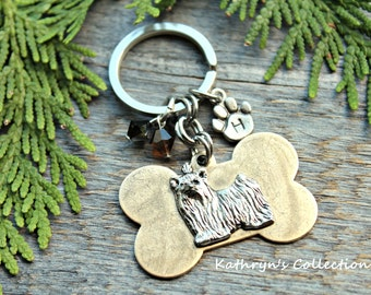 Yorkshire Terrier Key Chain, Yorkie Key Chain, Yorkie Mom, Yorkie Gift, Dog lover Gift, Dog Keychain