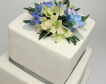 Silk flower cake top etsy wedding cake topper floral cake decoration artificial flowers for cakes birthday or party junglespirit Gallery