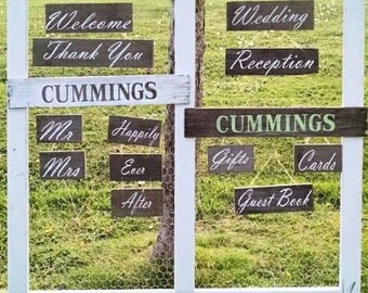Extraordinary Set Rustic Wedding Wooden Signs Upcycled Barn Wood Wedding Sign, Country Wedding, Cottage, Farm Decor, Reclaimed