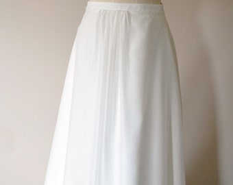 Romantic gathered silk chiffon wedding skirt in Ivory