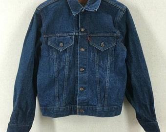 Vintage Levi's 70505 Super Dark Denim Jean Jacket Sz 40 USA