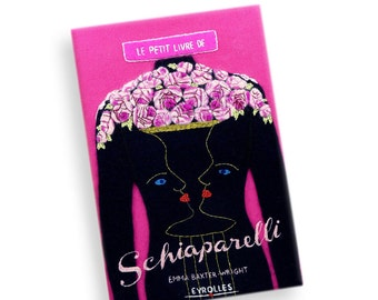 Embroidered Book Clutch - Le Petit Livre De Schiaparelli. Fuchsia book purse bag