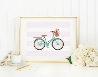 Bicycle Wall Art bicycle wall art | etsy