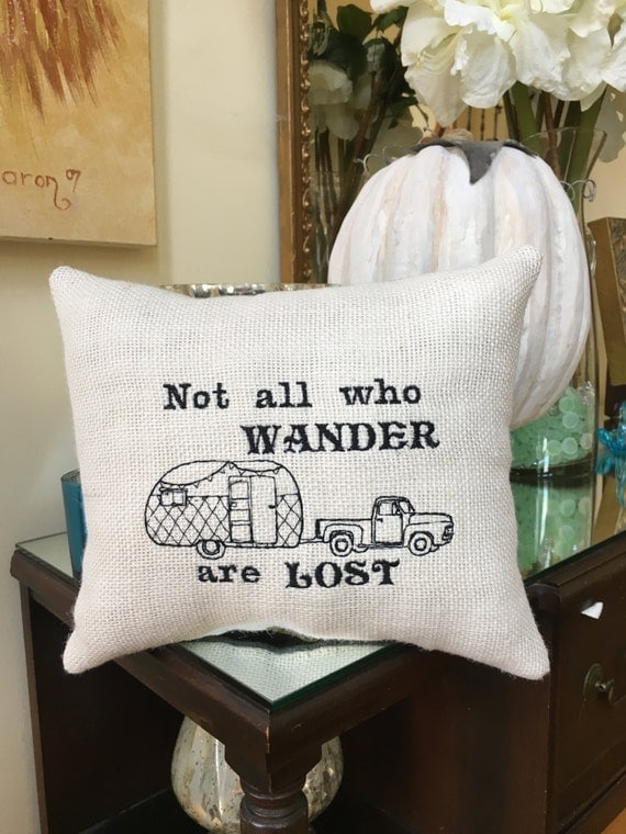 Rv And Camper Pillow Pickup Truck Decor All Who Wander Are