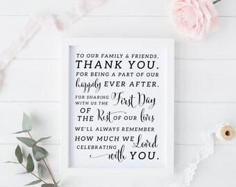 Printable Wedding Thank You Sign • Wedding Welcome Sign • INSTANT DOWNLOAD • Thank You Sign for Wedding • 5x7 and 8x10 PDF • #KKD105_07