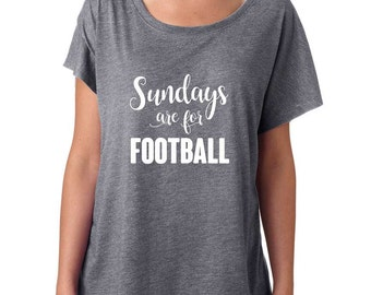 Sundays Are For Football Shirt. Super Soft & Flowy, Off The Shoulder Women's Tee. Funny Football T-Shirt. Sunday Football Shirt.