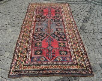 Vintage   Vegatable  Dye   Caucasian    Collection  Carpet  Rug   52,3''  X  102,3'' inches