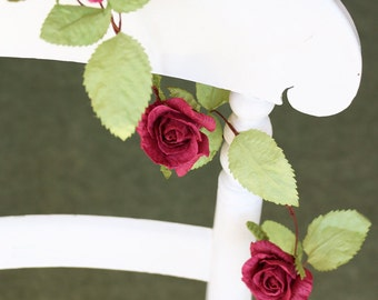 Paper Rose Garland (4 colours)