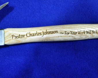 Gift For Pastor ~ Gift For Clergy ~ Gift For Priest ~ Engraved Hammer ~ Christian Gift ~ Bible Verse ~ Engraved Christian Gift ~ Church Gift