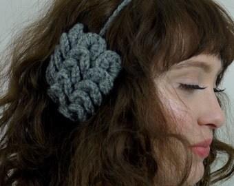 Custom Cute Ear Muffs // Crochet Ear Muffs with Fleece Lining