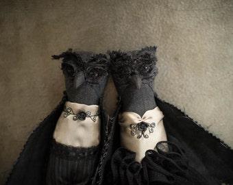 Lovebirds / Kamil & Dana ... OOAK art dolls, owl doll, handmade