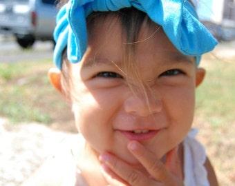 Tropical Blue KNOT Headband // Adult Headband, Baby Headband, Toddler Headband
