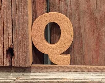 CORK LETTER | One (1) Cork Letter; Alphabet Letters; Monogram